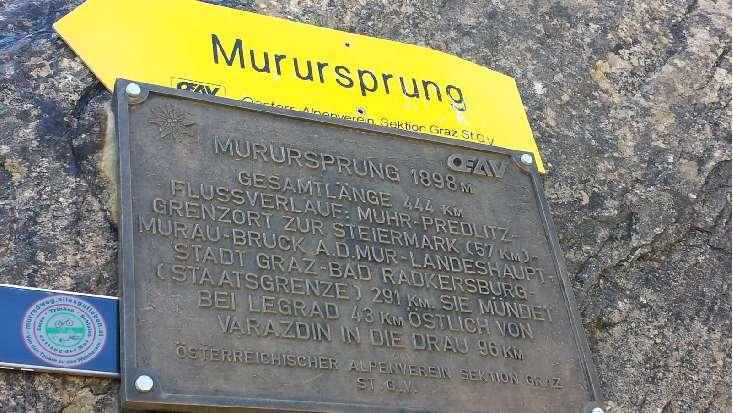 Murursprung 1898 m Muhr im Lungau Salzburg