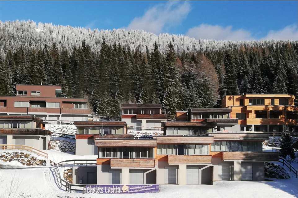 Chalets Lachtal und Restaurant Zwanzinger Murradweg R2 Winter