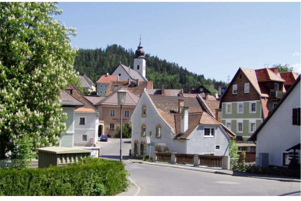 Ausflugsziel am Murradweg St. Michael in Obersteiermark Panorama