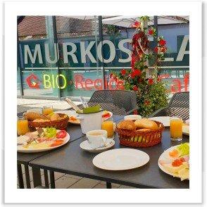 Gastgeber am Murradweg R2 Cafe MURKOSTLADEN Mureck Fruehstueck