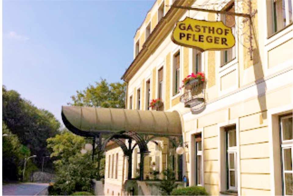 Gasthof Pfleger Graz Andritz Gastgeber am Murradweg R2 Eingang