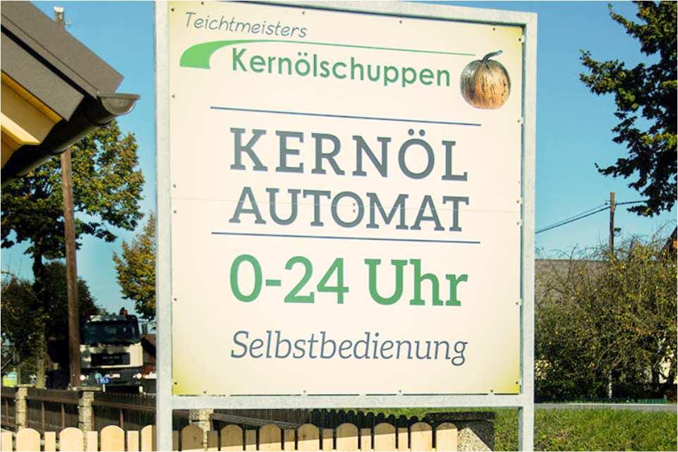 Kernölautomat Obervogau Gastgeber am Murradweg R2 Selbstbedinung