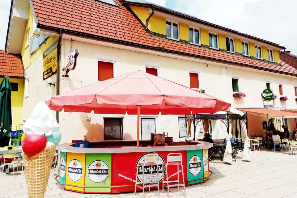 Murtal Eis Postcafe Ehgartner St Georgen ob Judenburg Gastgeber am Murradweg Unterkuenfte