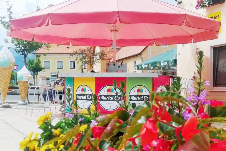 Murtal Eis Postcafe Ehgartner St Georgen ob Judenburg Gastgeber am Murradweg