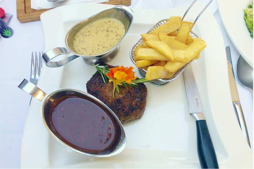 Restaurant Murnockerl Gralla Gastgeber am Murradweg R2 Pffepfersteak