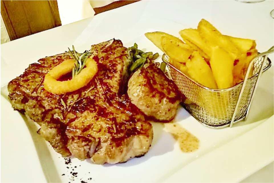 Restaurant Murnockerl Gralla Gastgeber am Murradweg R2 Steak