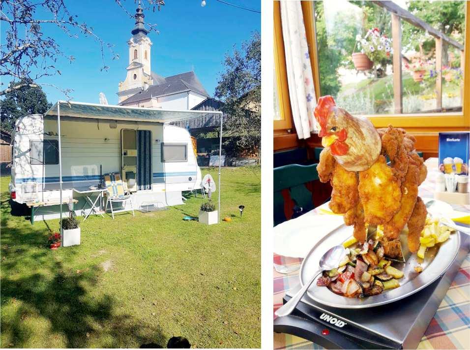 Teichstub´n Gabersdorf Gratis Campingstellplatz am Murradweg R2 BACKHENDL