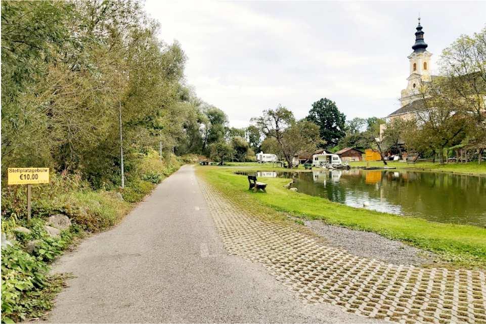 Teichstub´n Gabersdorf Gratis Campingstellplatz am Murradweg R2 Teich