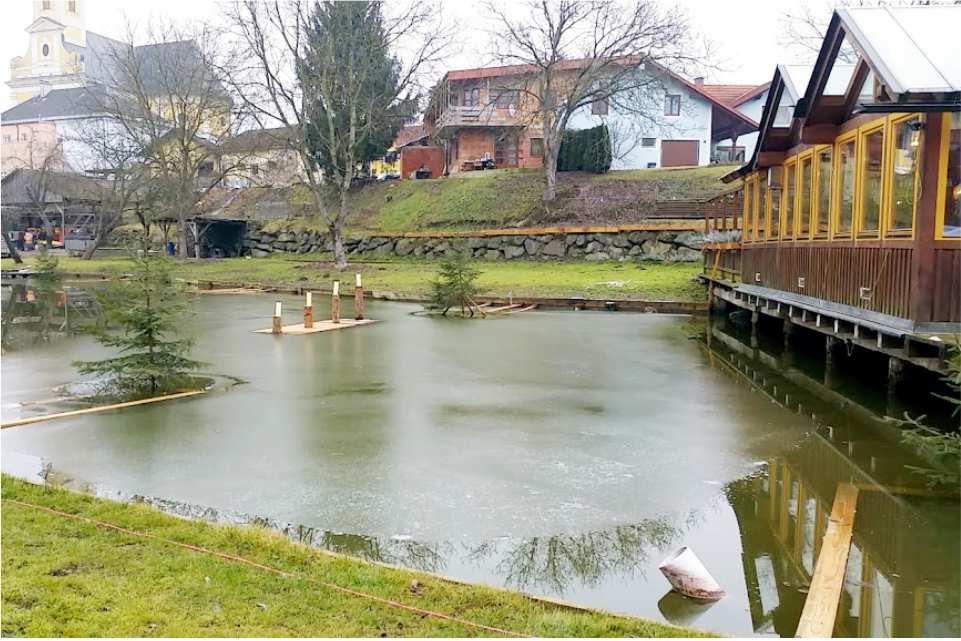 Teichstub´n Gabersdorf Gratis Campingstellplatz am Murradweg R2 Winter