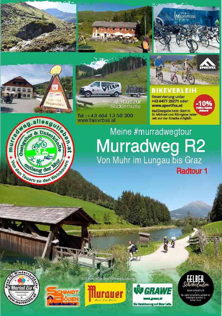 Gastgeber und Unterkuenfte am Murradweg R2 2021 Teil 1