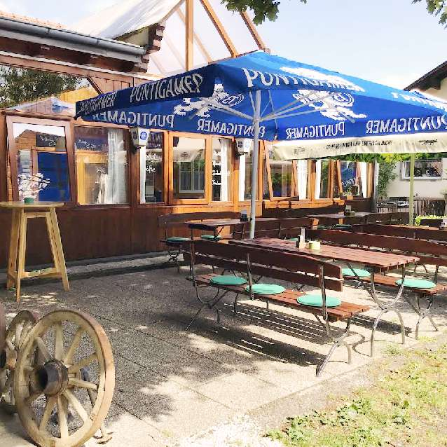 Elfi´s Hütt´n Mureck Terrasse Gastgeber am Murradweg